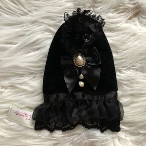 Black Velvet Dog Dress